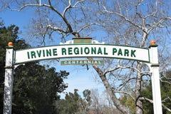 Irvine Regional Park Centennial Sign Fotografia de Stock Royalty Free