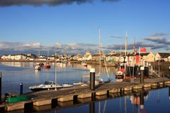 Irvine, Scotland. Boats moored at Irvine in Scotland Stock Image