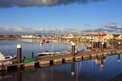 Irvine, Scotland. Boats moored on the river at Irvine Royalty Free Stock Image