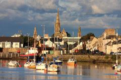 Irvine, Scotland. River and town of Irvine, Scotland Stock Image