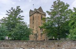 Church of St John ancient Tower Ayr Scotland royalty free stock photo