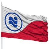 Irving City Flag sur le mât de drapeau, Etats-Unis Image stock