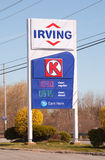 Irving Gas Station Sign Stock Photography