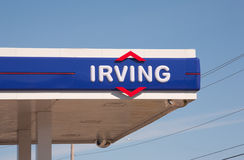 Irving Gas Station Sign Royalty Free Stock Image