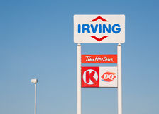 Irving Oil Sign Image stock