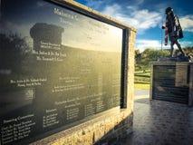 IRVING, TX, STATI UNITI 4 NOVEMBRE 2018: Tono d'annata la statua di Mahatma Gandhi nella plaza commemorativa di Mahatma Gandhi Mo fotografia stock