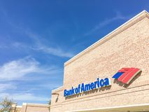 Bank of America branch office cloud blue sky in Irving, Texas, U Stock Images