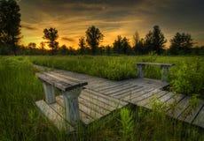 заход солнца прерии irwin Стоковая Фотография RF