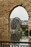 Irygacyjni kół norias w Hama na Orontes rzece Syria zdjęcia royalty free