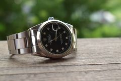 Is A Watch For My Life`s Prize Is A Beautiful Rolex Is A White Gold Set With Diamonds From Switzerland Stock Image