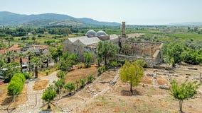 Isa Bey Mosque, in Selcuk, Turkije royalty-vrije stock foto