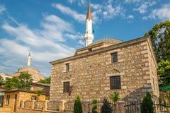 Isa Bey- und Mustafa Pasha-Moschee stockbilder