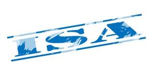 ISA blue stamp. Isolated on white background Royalty Free Stock Image
