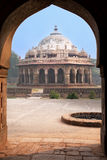 Isa Khan Niyazi tomb seen through arch, Humayun's Tomb complex, Stock Photo
