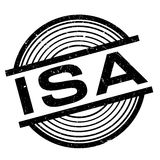 Isa rubber stamp. Grunge design with dust scratches. Effects can be easily removed for a clean, crisp look. Color is easily changed Royalty Free Stock Photography