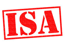 ISA Rubber Stamp. ISA red Rubber Stamp over a white background Stock Photo