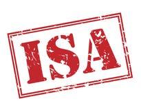 Isa stamp. Isa red stamp on white background Royalty Free Stock Image