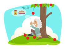 Isaac Applesauce stock illustrationer