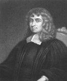 Isaac Barrow. (1630-1677) on engraving from the 1800s. English scholar and mathematician. Engraved by B.Holl from a picture by I.Whood and published in London Stock Photos