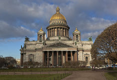 Isaac cathedral in the autumn Stock Photo