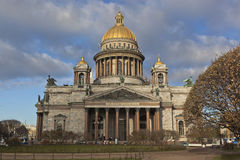 Isaac cathedral in the autumn Stock Image