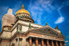 Isaac cathedral in Saint Petersburg Stock Photos