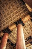 Isaac cathedral, St Petersburg. Ceiling and stucco moliding of old Isaac cathedral, St Petersburg, Russia Stock Photo
