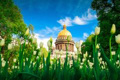 Isaac cathedral in St Petersburg Stock Photography