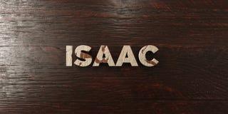 Isaac - grungy drewniany nagłówek na klonie - 3D odpłacający się królewskość bezpłatny akcyjny wizerunek ilustracja wektor