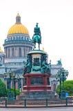 Isaac katedra w Petersburg w popołudniu obraz stock