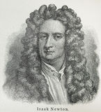 Isaac Newton. (1643 - 1727) was an English physicist, mathematician, astronomer, natural philosopher, alchemist, and theologian.One of the most influential Stock Image