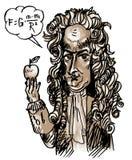 Isaac Newton (vecteur) illustration stock