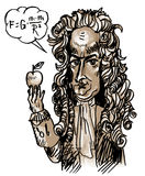 Isaac Newton (vector). Sir Isaac Newton  was an English physicist and mathematician Royalty Free Stock Photography
