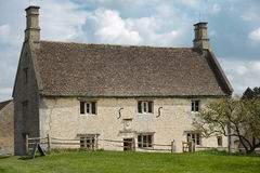Isaac Newton. Woolsthorpe manor, home of Isaac Newton and the place where he first conceived his theory of gravity after watching an apple fall from a tree to Stock Photos