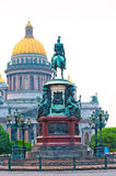 Isaac's Cathedral in Petersburg in the afternoon Stock Image