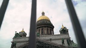 Isaac`s cathedral at spring. Or autumn stock footage