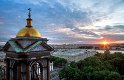 Isaac's Cathedral. In sunset, Russia stock image