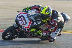 Isaac VIà ` ALES Moto3 Grand Prix Movistar Aragà ³ ν Στοκ Εικόνα