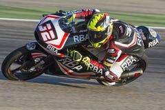 Isaac VIà ` ALES Moto3 Grand Prix Movistar Aragà ³ ν Στοκ φωτογραφία με δικαίωμα ελεύθερης χρήσης