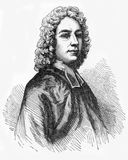 Isaac Watts. (1674 - 1748), English hymnwriter, theologian and logician. A prolific and popular hymn writer, he was recognized as the Father of English Hymnody vector illustration