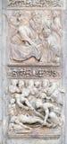 Isaac zegent omhoog Jacob en Begrafenis van de vrouw van Jacob ` s stock afbeeldingen