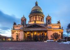 Isaak大教堂在圣彼德堡 库存图片