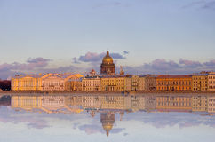 Isaak cathedral with reflection Royalty Free Stock Images