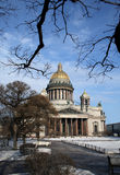Isaakievsky cathedral. In Saint Petersburg Royalty Free Stock Photo
