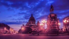 Isaakivsky大教堂,圣彼得堡,俄罗斯 免版税图库摄影