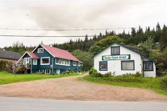 Isabel Creek Store in Koningin Charlotte, BC, Canada Royalty-vrije Stock Fotografie
