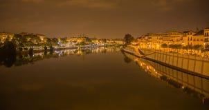 Isabel II bro, Puente de Triana, Seville arkivbild