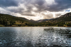 Isabel Kolorado Jeziorny zmierzch obrazy royalty free