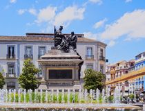 Isabel la Catolica Square in Granada, Spain Stock Photos