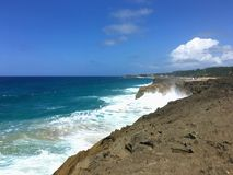 Isabela Beach Puerto Rico. Strong waves North Beach of Puerto Rico Isabela Royalty Free Stock Image